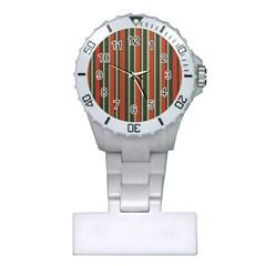 Festive Stripe Nurses Watch