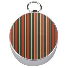 Festive Stripe Silver Compass