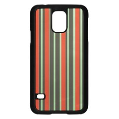 Festive Stripe Samsung Galaxy S5 Case (Black)