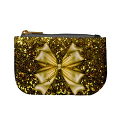 Golden Sequins And Bow Coin Change Purse