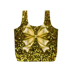 Golden Sequins And Bow Reusable Bag (s)