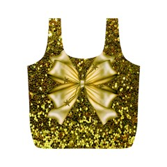 Golden sequins and bow Reusable Bag (M)
