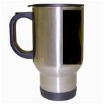 Beware Of Strangers (2) Travel Mug (Silver Gray) Left