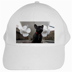 French Bulldog With Boat  White Baseball Cap