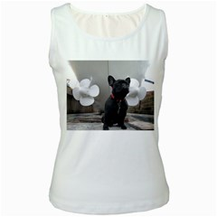 French Bulldog With Boat  Women s Tank Top (white)