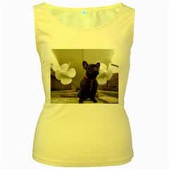 French Bulldog With Boat  Women s Tank Top (yellow)