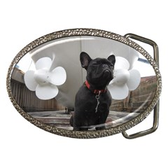 French Bulldog With Boat  Belt Buckle (Oval)