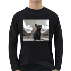 French Bulldog With Boat  Men s Long Sleeve T-shirt (Dark Colored)
