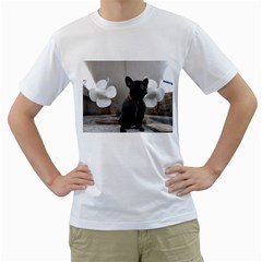 French Bulldog With Boat  Men s T-Shirt (White)