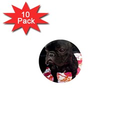 French Bulldog Sitting 1  Mini Button Magnet (10 pack)