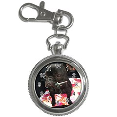 French Bulldog Sitting Key Chain Watch
