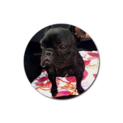 French Bulldog Sitting Drink Coaster (round)