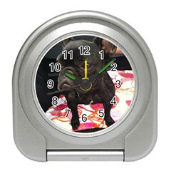 French Bulldog Sitting Desk Alarm Clock