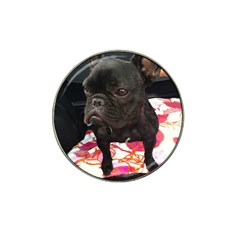 French Bulldog Sitting Golf Ball Marker 4 Pack (for Hat Clip)