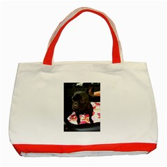 French Bulldog Sitting Classic Tote Bag (Red)