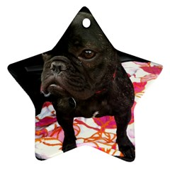 French Bulldog Sitting Star Ornament (two Sides)