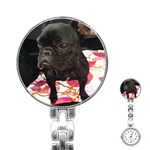 French Bulldog Sitting Stainless Steel Nurses Watch Front