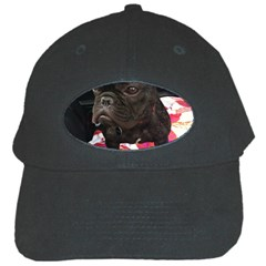 French Bulldog Sitting Black Baseball Cap