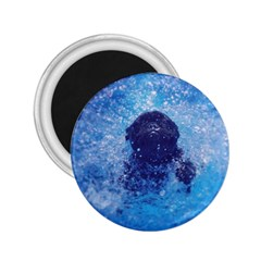 French Bulldog Swimming 2.25  Button Magnet