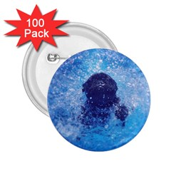 French Bulldog Swimming 2.25  Button (100 pack)