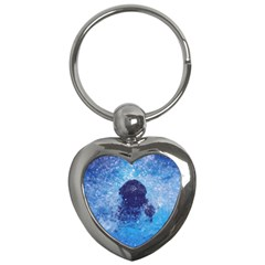 French Bulldog Swimming Key Chain (heart)