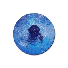 French Bulldog Swimming Drink Coasters 4 Pack (Round)