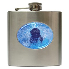 French Bulldog Swimming Hip Flask