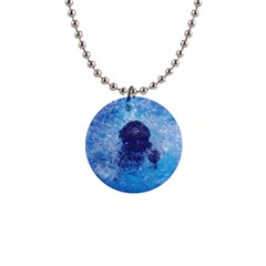 French Bulldog Swimming Button Necklace
