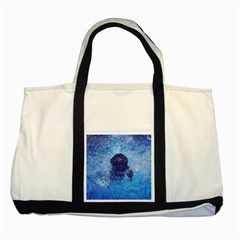 French Bulldog Swimming Two Toned Tote Bag
