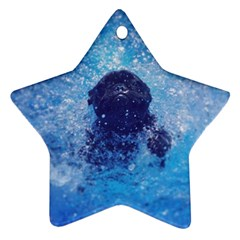 French Bulldog Swimming Star Ornament (Two Sides)