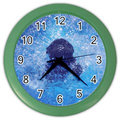 French Bulldog Swimming Wall Clock (Color)