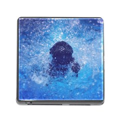 French Bulldog Swimming Memory Card Reader With Storage (square)