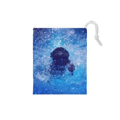 French Bulldog Swimming Drawstring Pouch (Small)