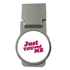 Just You and Me Typographic Statement Design Money Clip (Round)
