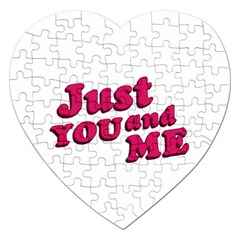 Just You and Me Typographic Statement Design Jigsaw Puzzle (Heart)