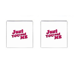 Just You And Me Typographic Statement Design Cufflinks (square)