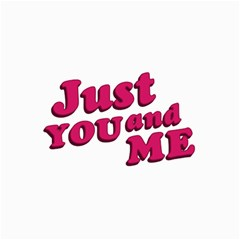 Just You and Me Typographic Statement Design Canvas 12  x 12  (Unframed)
