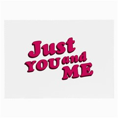 Just You and Me Typographic Statement Design Glasses Cloth (Large)