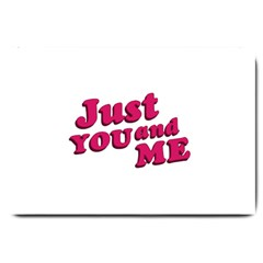 Just You And Me Typographic Statement Design Large Door Mat