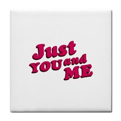 Just You And Me Typographic Statement Design Face Towel