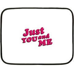 Just You And Me Typographic Statement Design Mini Fleece Blanket (two Sided)