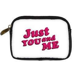 Just You And Me Typographic Statement Design Digital Camera Leather Case