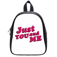 Just You And Me Typographic Statement Design School Bag (small)