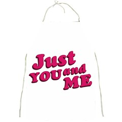 Just You And Me Typographic Statement Design Apron