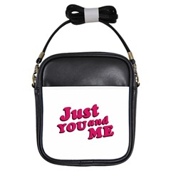Just You And Me Typographic Statement Design Girl s Sling Bag