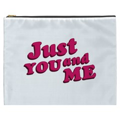 Just You and Me Typographic Statement Design Cosmetic Bag (XXXL)