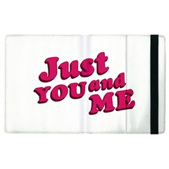 Just You And Me Typographic Statement Design Apple Ipad 2 Flip Case