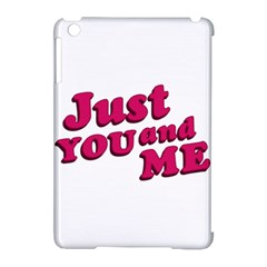 Just You And Me Typographic Statement Design Apple Ipad Mini Hardshell Case (compatible With Smart Cover)