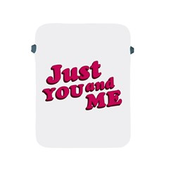 Just You And Me Typographic Statement Design Apple Ipad Protective Sleeve