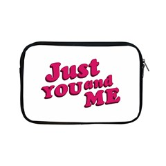 Just You And Me Typographic Statement Design Apple Ipad Mini Zippered Sleeve